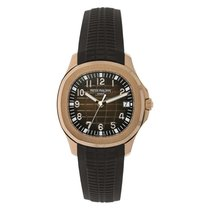 Patek Philippe Aquanaut 40mm Rose Gold Chocolate Rubber Strap...