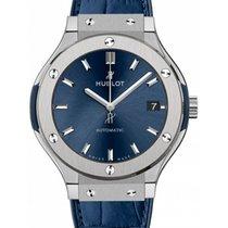 Hublot Classic Fusion Blue 565.NX.7170.LR Index Titanium &...