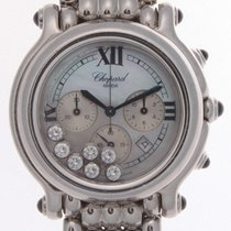 Chopard Happy Sport Stainless Steel 7 Diamond Mop Dial Watch