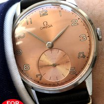Omega 37.5mm Omega Oversize with salmon colored dial 30t2 vintage
