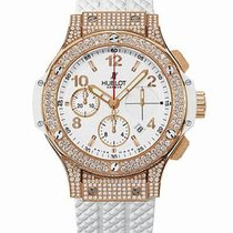 Hublot Big Bang 41mm Porto Cervo Diamond Pave 18K Rose Gold...