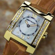 Montblanc Rare Ladies Profile 18k Gold Diamond Mother Of Pearl...