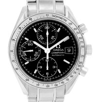 Omega Speedmaster Date Automatic Black Dial Steel Watch...