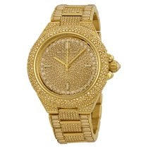 Michael Kors Camille Crystal Encrusted Gold Ion-plated Ladies...