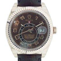 Rolex Sky Dweller Everose Brown Leather