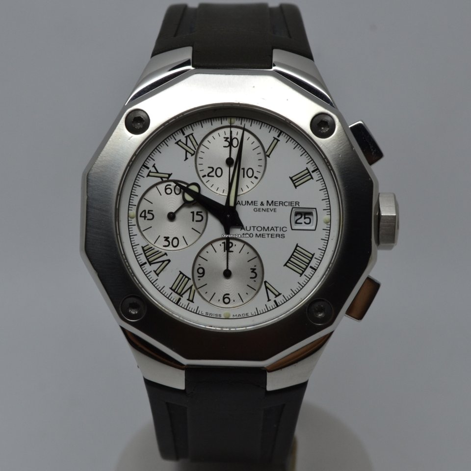 baume mercier riviera xxl automatic chronograph 65541 for 1 127 for sale from a trusted. Black Bedroom Furniture Sets. Home Design Ideas