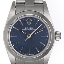 Rolex Lady Oyster Perpetual Ladies Watch 67180 Blue Dial