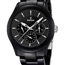 Festina Ceramic F16639/2 Damen Multifunktion schwarz 40 mm