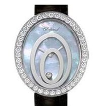 Chopard Happy Spirit Oval 18K White Gold Diamonds Ladies Watch
