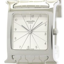 Hermès Polished Hermes H Watch Stainless Steel Quartz Unisex...