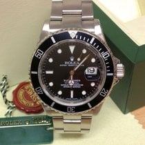 Rolex Submariner Date 16610LN - Engraved Rehaut Serviced By Rolex