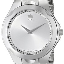 Movado 0606379 Men's Luno Silver Dial Stainless Steel...