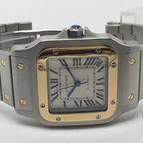 Cartier Santos Galbée Galbee XL Automatic Gold and Steel