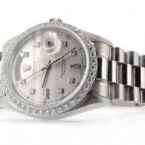Rolex 18k Gold Day-date President Silver Diamond 18039