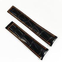 TAG Heuer Carrera Alligator leather strap 20mm black orange...