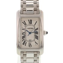 Cartier Large 18k White Gold Cartier Tank Americaine 1741