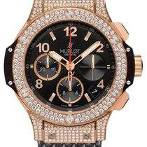 Hublot Big Bang 41 Diamonds 18K Rose Gold Black Rubber Unisex...