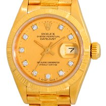 "Rolex Bark Finish Datejust ""President""."