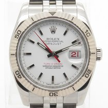 Rolex Datejust Turn-o-graph 116264 Engraved Bezel White Dial...