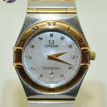 Omega Constellation Gold Steel and Diamond numerals