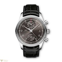 IWC Portuguese Chronograph Classic Stainless Steel Adroise...