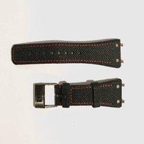 Linde Werdelin Textured calfskin strap with red stitching