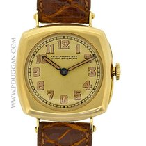 Patek Philippe 18k yellow gold vintage 1916 Cushion Case dress...