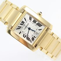 Cartier TANK FRANCAISE AUTOMATIC LARGE MODEL 18K YELLOW GOLD