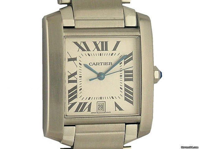 Cartier Tank Francaise GM groes Modell Stahl 32x28mm