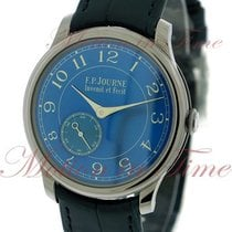 F.P.Journe Chronometre Bleu, Blue Dial - Tantalum on Strap