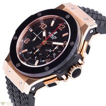 Hublot Big Bang 44 Chronograph 18K Rose Gold Carbon Rubber...