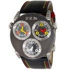 B.R.M Three Time Zone Automatic Titanium Watch w/Leather Strap