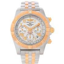Breitling Chronomat 41 Chronograph Steel Rose Gold Watch Cb0140
