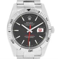 Rolex Datejust Thunderbird Turnograph Black Dial Mens Watch...