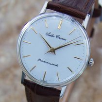 Seiko Cronos Mens 1950s Vintage Manual Stainless Steel Dress...