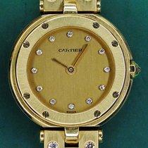 Cartier Santos Ronde Lady 18k Yellow Gold Diamonds