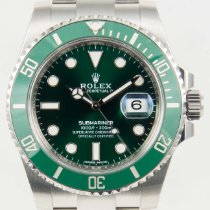 Rolex Submariner Stainless Ceramic Green Dial Hulk Watch 40mm