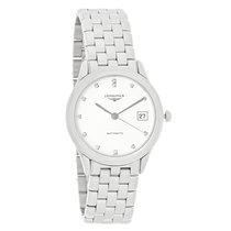 Longines Flagship Mens Diamond White Dial Swiss Automatic...