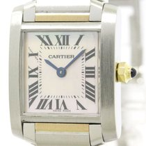 Cartier Polished Cartier Tank Francaise 18k Pink Gold Steel...