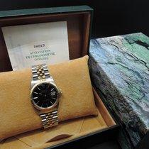Rolex Datejust 16013 18K/Gold ORIGINAL Black Dial with Box/Paper
