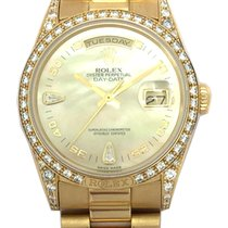 Rolex 18k Day-Date with Factory-Set Diamond Bezel/Lugs &...