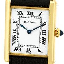 """Cartier """"Classic Louis Tank Paris"""" Strapwatch."""