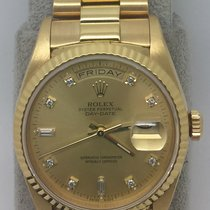 Rolex 18238A Day Date 18k Yellow Gold with Original Diamond