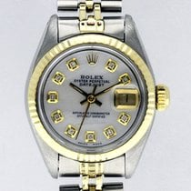 Rolex Datejust White Pearl Diamond Dial 18k Stainless Steel