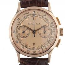 Excelsior Park Chronograph Tachymeter Gelbgold Handaufzug...