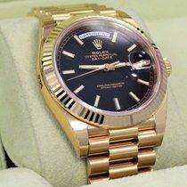 Rolex President Day-date 228238 18k Yellow Gold Black Diagonal...