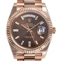 Rolex Day-date 40mm President 228235 Mens Everose Gold...