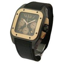 Cartier W2020004 PVD Rose Gold Santos 100 Chrono - PVD on Strap
