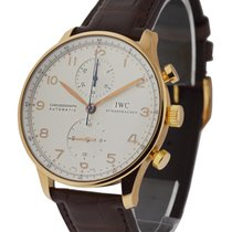 IWC IW371480 Portuguese Chronograph in Rose Gold - on Strap...