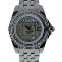 Breitling Cockpit Ladys Stainless Steel Diamond Bezel Mop...